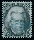 Stamps, (85B) 1867, 2¢ black, Z. grill...