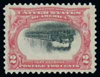 (295a) 1901, 2¢ Pan-American, center inverted
