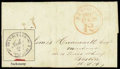 Stamps, Hawaii, 1845 Stampless folded letter Honolulu to Boston...
