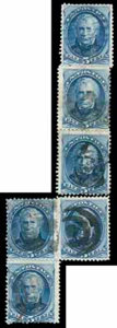 Stamps, (179) 5¢ Taylor, reconstructed plate crack...