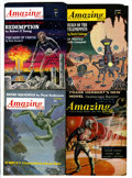 Pulps:Science Fiction, Amazing Stories Digest Pulps Box Lot (Ziff-Davis, 1953-67)Condition: Average FN/VF.... (Total: 2 Box Lots)