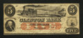 Obsoletes By State:Maryland, Westernport, MD- Clinton Bank $5 Mar. 1, 1860. ...