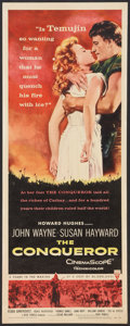 """Movie Posters:Action, The Conqueror (RKO, 1956). Insert (14"""" X 36""""). Action.. ..."""