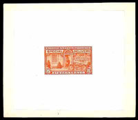 (E13P1) Special Delivery, 1925, 15¢ deep orange, large die proof on India