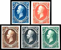 "(O1TC-O93TC) Officials, 1873 issues complete, ""Goodall"" trial color small die proofs"