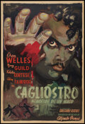 "Movie Posters:Drama, Black Magic (United Artists, 1949). Argentinean Poster (29"" X 43"").Drama.. ..."