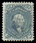 Stamps, (70b) 1861, 24¢ steel blue...