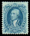 Stamps, (72) 1861, 90¢ blue...