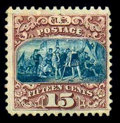 Stamps, (118) 1869, 15¢ brown & blue, type I...