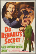 "Movie Posters:Horror, Dr. Renault's Secret (20th Century Fox, 1942). One Sheet (27"" X 41""). Horror.. ..."