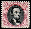 Stamps, (132) 1869 (1875 Re-issue), 90¢ carmine & black...