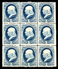 Stamps, (182) 1879, 1¢ dark ultramarine...