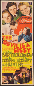 "Movie Posters:Comedy, The Devil Is a Sissy (MGM, 1936). Insert (14"" X 36""). Comedy.. ..."