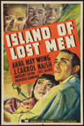 "Movie Posters:Mystery, Island of Lost Men (Paramount, 1939). One Sheet (27"" X 41""). Mystery.. ..."