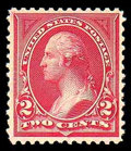 Stamps, (249) 1894, 2¢ carmine lake, type I...