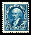 Stamps, (262) 1894, $2 bright blue...