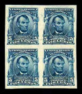 Stamps, (315) 1908, 5¢ blue, imperf...