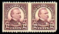 Stamps, (564a) 1923, 12¢ brown violet, imperf vertically...