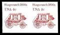 Stamps, (2228b) 1986, 4¢ Stagecoach coil, imperf...