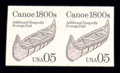Stamps, (2453a) 1991, 5¢ Canoe coil, imperf...