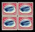 Stamps, (C1-C3) Airmail, 1918, 6¢-24¢ first issue complete...