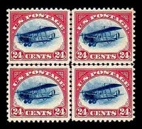(C1-C3) Airmail, 1918, 6¢-24¢ first issue complete