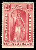 Stamps, (PR20) Newspaper, 1875, 60¢ rose...