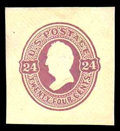 Stamps, (U101) 1870, 24¢ purple on cream...