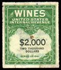 Stamps, (RE170) Wines, 1942, $2,000...