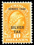 Stamps, (RG54) Silver Tax, 1940, $10...