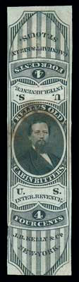 (RS153a) Kelly & Co., 4¢ black, old paper