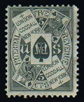 Stamps, (RU8a) Goodall, 5¢ black, old paper...