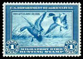Stamps, (RW1) Hunting Permit, 1934, $1 Mallards...