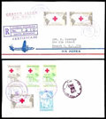 Stamps, (587-588, C129) Dominican Republic, 1963 International Red Cross set...