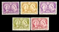 Stamps, (50-65) Canada, 1897, ½¢-$5 Victoria Jubilee issue complete...