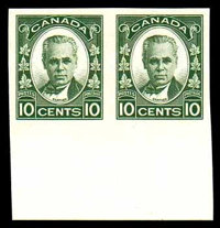 (190a) Canada, 1931, 10¢ Cartier, imperf