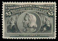 Stamps, (245) 1893, $5 Columbian...