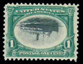 Stamps, (294a) 1901, 1¢ Pan-American, center inverted...