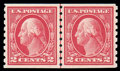Stamps, (413) 1912, 2¢ carmine coil...