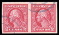 Stamps, (459) 1914, 2¢ carmine, imperf coil...