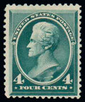 Stamps, (211D) 1883 Special Printing, 4¢ deep blue green...