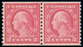 Stamps, (491) 1916, 2¢ carmine, type II, coil...