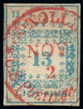 """Stamps, (4) Hawaii 1851-52, 13¢ blue """"Missionary""""..."""
