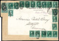 Stamps, (O68, O66 [17], O62) State Dept., 1873, $2 green & black...