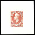 """Stamps, (O15TC-O24TC) Interior Dept., 1873, 1¢-90¢ complete, """"Goodall"""" trial color small die proofs on India..."""