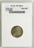 Bust Dimes: , 1834 10C Small 4--Cleaned--ANACS. XF45 Details. NGC Census:(4/207). PCGS Population (8/146). Mintage: 635,000. Numismedia ...