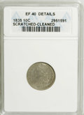 Bust Dimes: , 1835 10C --Cleaned, Scratched--ANACS. XF40 Details. NGC Census:(8/359). PCGS Population (13/283). Mintage: 1,410,000. Numis...