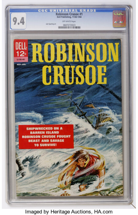 Robinson Crusoe #1 (Dell, 1963) CGC NM 9.4 Off-white pages....