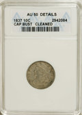 Bust Dimes: , 1837 10C --Cleaned--ANACS. AU50 Details. NGC Census: (2/99). PCGSPopulation (7/73). Mintage: 359,500. Numismedia Wsl. Price...