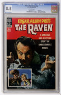 Silver Age (1956-1969):Horror, Movie Classics: Edgar Allen Poe's The Raven (Dell, 1963) CGC VF+8.5 Off-white pages....